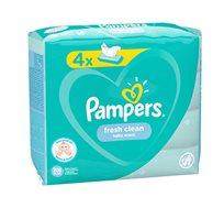 מארז הכולל 3 רביעיות מגבונים לתינוקות פרש 52 מגבונים בחבילה PAMPERS