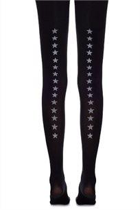 גרביון פס אחורי כוכבים Zohara בצבע שחור