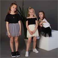 חצאית Oro לילדות (מידות 3-7 שנים) אפור טוטו