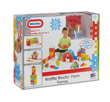 משחק הרכבה וופלים Waffle blocks farm מבית Little Tikes - משלוח חינם - תמונה 4