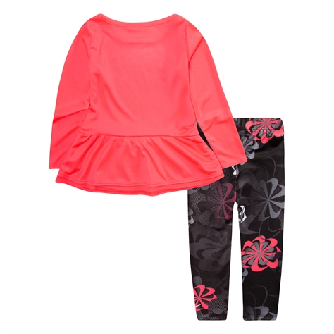 Nike ילדות//  Tdf Ls Peplum Tunic And Aop Legging Set