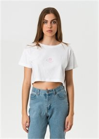 Afends נשים // Sunshine Soon Cropped Tee White