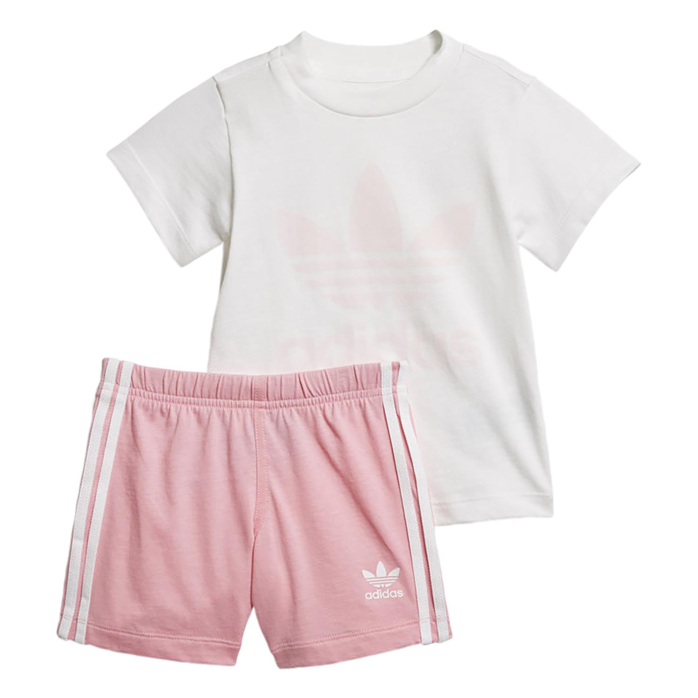 Adidas תינוקות// Short Tee Set Light Pink