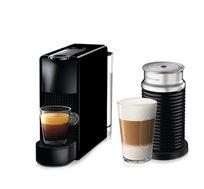 מכונת קפה Nespresso אסנזה מיני בצבע שחור דגם C30 כולל מקציף חלב ארוצ'ינו  + ערכת קפה קר בהטבה*
