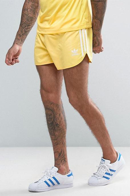 מכנסי ספורט קצרים יוניסקס Originals Retro - צהוב