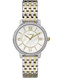 שעון יד לאישה בשילוב אבני סברובסקי מבית TIMEX העולמית