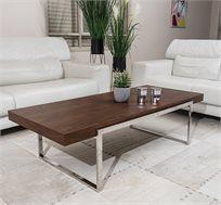 שולחן לסלון בשילוב עץ ומתכת בעיצוב אלגנטי