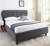 מיטה וחצי GAROX בריפוד בד רך למגע 120X190 דגם ROSETA - משלוח חינם