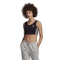 גופיית אדידס קרופ שחורה לנשים - Adidas Bra Top
