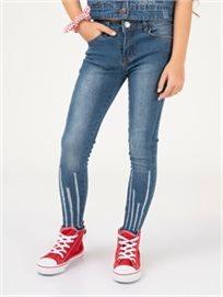 מכנסי גינס עם פסים פרומים
