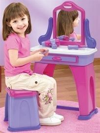 שולחן איפור עם כיסא ואביזרים