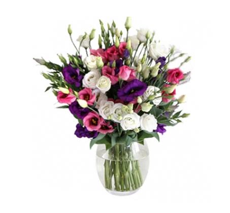 פרחי הליזיאנטוס בגווני סגול ורוד לבן