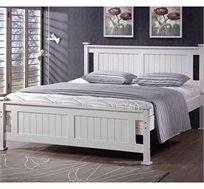 מיטה זוגית רחבה מעץ מלא בעיצוב קלאסי ועדין דגם בלנו BRADEX