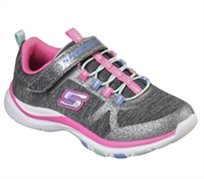 Skechers ילדות // Trainer Lite Jazzy Jumpers Charcoal Hot Pink