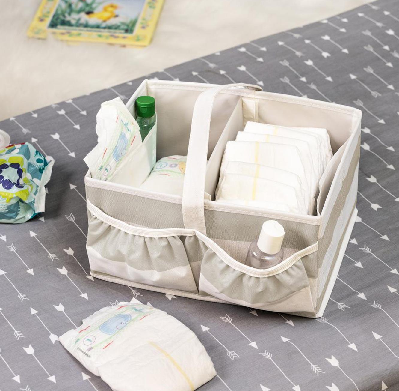 קופסת מחולקת ל 2 תאים לאחסון חיתולים ומוצרי תינוקות honey can do  ארה
