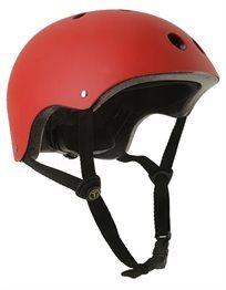קסדה בטיחותית לפעוטות וילדים עם מנגנון התאמה לראש ו 11 פתחי איוורור מידה M אדום