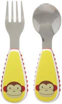 """סט סכו""""ם - כפית ומזלג מבית SKIP HOP לילדים, בעיצובים שונים לבחירה!"""