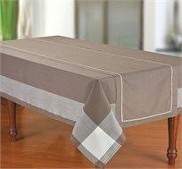 """מפת שולחן עם ראנר 150X240 ס""""מ במגוון צבעים"""