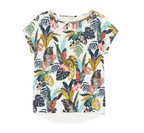חולצת טישירט עם הדפס PROMOD בצבע לבן