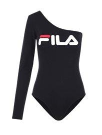 Fila נשים - בגד גוף אסימטרי שחור