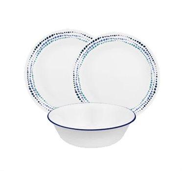 סט 18 חלקים של צלחות זכוכית CORELLE מסדרת Livingware הפופולארית - תמונה 6