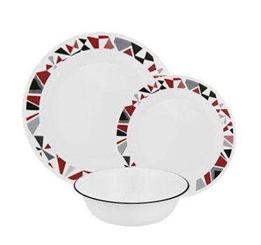 סט 18 חלקים של צלחות זכוכית CORELLE מסדרת Livingware הפופולארית - תמונה 5