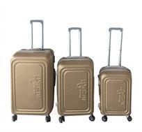 סט 3 מזוודות קשיחות 20'', 24'', 28'' Suzuki Toledo בצבע שמפנייה