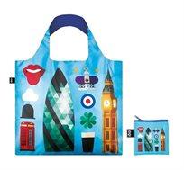 תיק כחול עם איורים בהשראת לונדון LOQI