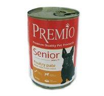 12 יחידות שימורים PREMIO לכלב זקן בטעם עוף