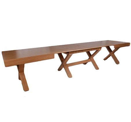 שולחן פינת אוכל מלבני נפתח עד 380 ס