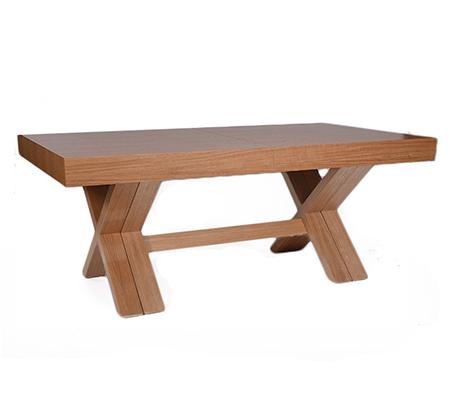 """שולחן פורניר אלון נפתח לגודל 380 ס""""מ במגוון צבעים"""