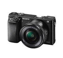 מצלמת SONY סטילס דיגיטאלית מסדרת אלפה ללא מראה עם עדשות מתחלפות דגם ILC-E6000LB + כרטיס זיכרון מתנה