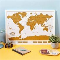 מפת עולם קלאסית בגירוד