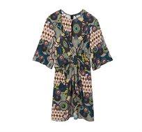שמלה עם הדפסים בוהו-גאומטריים Desigual לנשים דגם MINA בצבע צבעוני