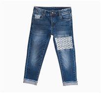 מכנסי OVS ג'ינס לילדות עם דוגמא