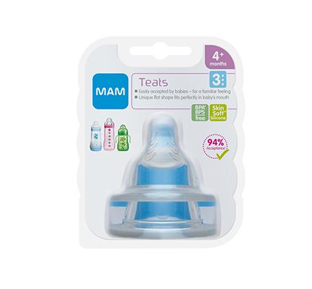 3 מארזי פטמות סיליקון לתינוקות MAM - זרימה מהירה 3 + קרם ניוואה לתינוק במחיר מיוחד
