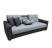 מערכת ישיבה נפתחת למיטה ברוחב וחצי בעיצוב מודרני כולל מתקן משקאות + זוג כריות תואמות מתנה בשווי ₪149