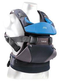 מנשא לתינוק עם 3 תנוחות נשיאה M1 צבע שחור/כחול