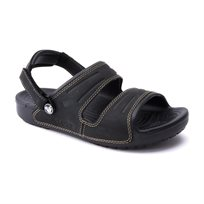 Crocs Yukon Two-strap Sandal - כפכף גברים שחור עם רצועות מעור