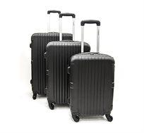 סט 3 מזוודות קשיחות SWISS דגם JP1114 TITAN BLACK בצבע שחור