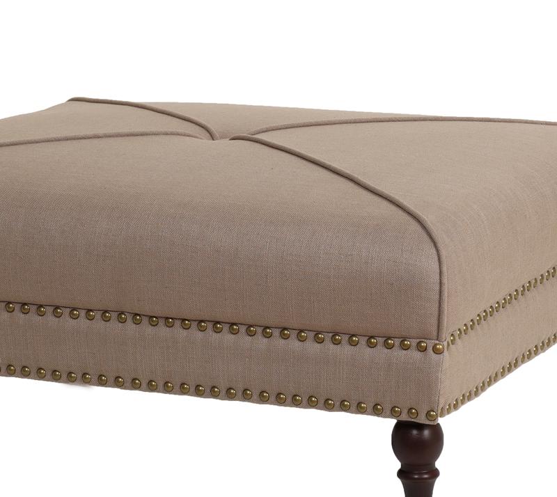 הדום מעוצב דגם קפיטולינה ביתילי עשוי מבד בגוון מוקה למראה יוקרתי וייחודי לסלון - תמונה 3