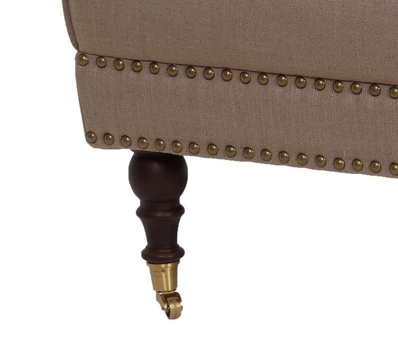 הדום מעוצב דגם קפיטולינה ביתילי עשוי מבד בגוון מוקה למראה יוקרתי וייחודי לסלון - תמונה 5