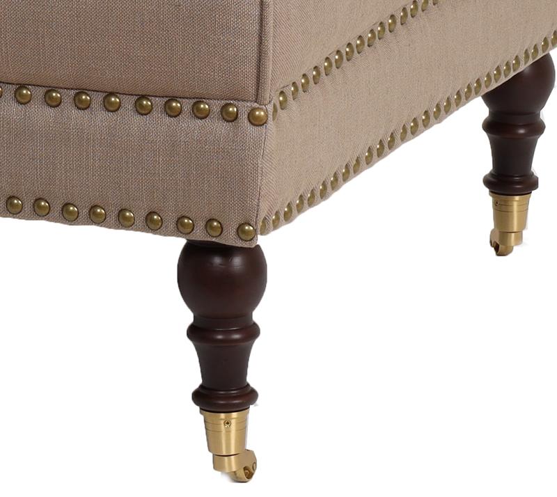 הדום מעוצב דגם קפיטולינה ביתילי עשוי מבד בגוון מוקה למראה יוקרתי וייחודי לסלון - תמונה 4