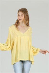 חולצה שרוול אפי צהוב - ייבוא