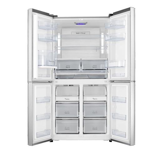 מקרר 4 דלתות מקפיא תחתון נפח 629 ל' זכוכית לבנה Hisense דגם RQ81WC4S/WGPK +מתנה 1000 ₪ לרשת FOX HOME - תמונה 2