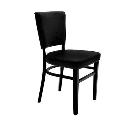 כסא מטבח מעץ כולל ריפוד מושב דגם אלכס