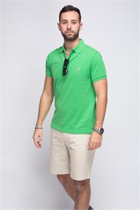 חולצת פולו POLO RALPH LAUREN CLASSIC FIT - ירוק זוהר