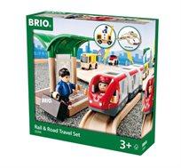 סט משחק מסלול רכבת ונסיעות בכביש