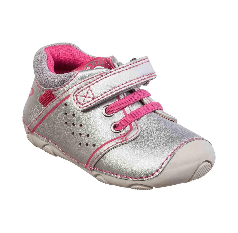 נעלי צעד ראשון לבנות דגם סופטי גומיות - כסף