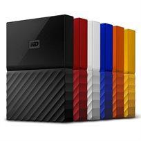 """דיסק קשיח חיצוני 2.5"""" 1TB Western Digital My Passport דגם WDBYNN0010BBK"""